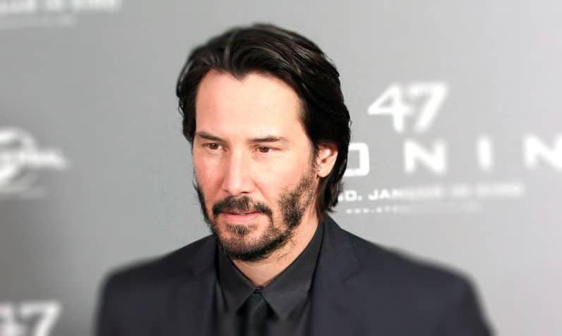 Keanu Reeves e la sua barba a chiazze